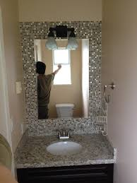 Mirror Tiles Decorating Ideas Tile Frame Around Bathroom Mirror Thedancingparent 22