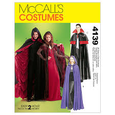 Joann Fabrics Patterns Enchanting Misses'Men'sTeen Boys' Lined Unlined Cape CostumesAll Sizes In