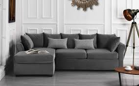 Light Grey Velvet Sectional Modern Large Velvet Sectional Sofa L Shape Couch With Extra Wide Chaise Lounge Light Grey