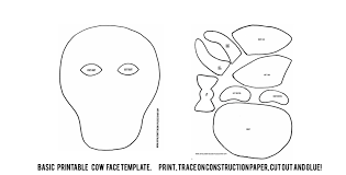 Cow Template Chick Fil A Cow Appreciation Day Printable Mask Joyfully