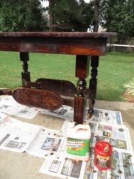 Stripping Dining Room Table Remodelaholic Step By How To Refinish Wood Furniture Carved Wooden