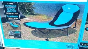 folding camping lounger chair with retractable footrest camping in size 1600 x 900