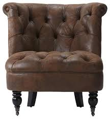Home Decorators Accent Chairs Magnificent Tufted Armless Accent Chair Transitional Armchairs And Accent