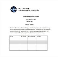 7 Sign Up Sheet Templates Excel Word Free Sheet