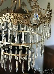 vintage crystal chandelier vintage crystal chandelier from