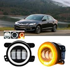 2013 Acura Ilx Fog Light Details About Led For Acura Ilx 13 15 Clear Lens Pair Bumper Fog Light Lamp Oe Replacement
