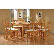 maple wood dining room table. 9pc maple finish wood counter height dining table \u0026 8 chairs set room