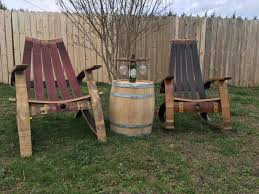 wine barrel outdoor furniture. Wine Barrel Rocking Chair Outdoor Furniture