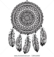 Native Dream Catchers Drawings american dream catcher clipart free silhouette 97