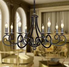 kitchen lighting ornament and decoration with vintage round candle chandelier wrought iron lighting fixtures