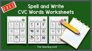 Jumpstart's kindergarten worksheets help children develop important skills needed for school. Cvc Words Worksheets For Kindergarten The Teaching Aunt
