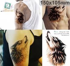 флеш тату временный рисунок на тело волк цена 75 купить Null