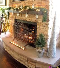 Brick Fireplace Mantel Christmas Decor Mantel Christmas Decorations Special  Event Design ...