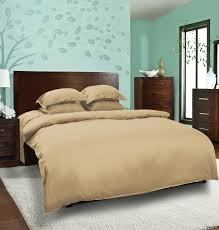 mrs a plus collection dyed plain beige bed sheet