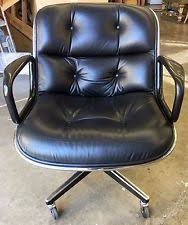 office chair vintage. Vintage Mid-Century Charles Pollock Knoll Leather Executive Swivel Office Chair D