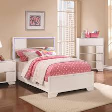 Lighted Headboard Furniture Havering Contemporary Twin Bed With Led Lighted Headboard