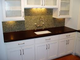Medium Oak Kitchen Cabinets All White Kitchen Cabinets And Sink Mosaic Backsplash Tile Dark