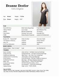 Acting Resume Templates Magnificent Child Actor Resume Greenscroll