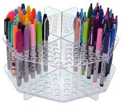 Colored Pencil Carousel Clear Colored Pencil Organizer