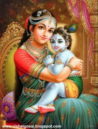 Lord Child Shri Krishna & Yashoda mata