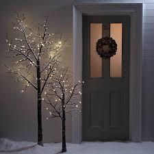 Amazoncom Lightshare 132L LED Birch Tree 8Feet Home U0026 KitchenTwig Tree Christmas