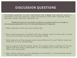 discussion leader example titles authors of essays ppt  7 formulate