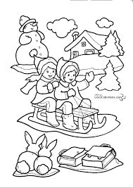 Coloriage Enfant Noel L