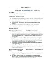 Medical Assistant Resume Example Enchanting Ma Resume Template Goloveco
