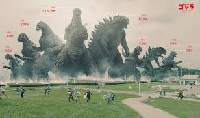Godzilla Chart The Tallest Godzilla Of Them All Update Godzilla