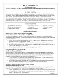 In House attorney Sample Resume