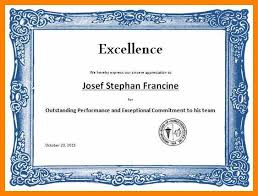Certificate Of Excellence Template Word 100 award templates word graduate resume 73