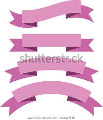 Purple Ribbon Banner Ribbon Banner Set Pink Ribbons Vector Stock Vector Royalty