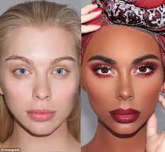 the makeup artist took some heat for transforming a white model into what appeared to be an african american model