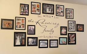 picture frame wall ideas for decorating awesome idea for my family wall decorating