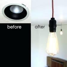 recessed lighting to pendant adapter ing p recessed lighting pendant converter kit