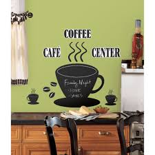 Coffee Decor For Kitchen Roommates Coffee Cup Chalkboard Peel And Stick Wall Decals