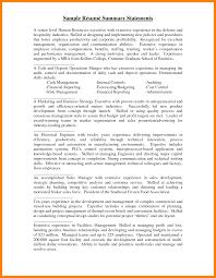 Resume Summary Statement Examples Good Professional Summary For 24 Statement Resume Coloring Example 24f 23
