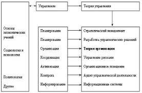 Курсовая работа Теория организации в системе наук Рис 1 Место теории организации в системе управленческих наук