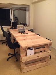 recycled pallet office computer desk with storage bathroomcute diy office homemade desk plans furniture