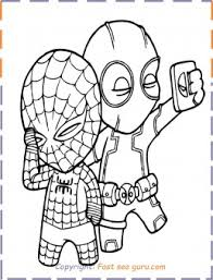 Spiderman coloring pages for kids. Deadpool Spiderman Coloring Pages To Print Out Free Kids Coloring Pages Printable