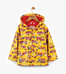 Hatley Raincoat Size Chart Fire Trucks Childrens Kids Boys Raincoat By Hatley