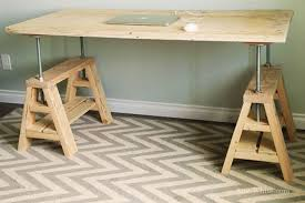 captivating saw horse desk and how to build an adjule sawhorse desk coffee table diy