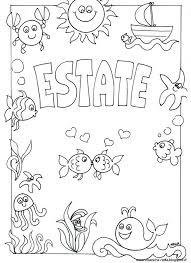 Stampabile Schede Da Colorare Estate Disegni Da Colorare