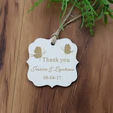 thank you tags for wedding favors personalised egraved mrmrs wooden wedding gift tags thank you tags