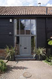 barn front doorTraditional front door panel design in a contemporary colour