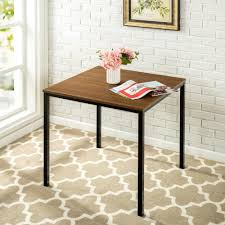 zinus modern studio collection brown soho square table