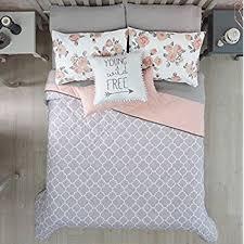 girl full size bedding sets amazon com teen girls pink coral damask 6 piece comforter set twin