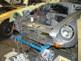 peter van de velde s rover 3 5 v8 powered 77 mgb modified mgb wiring harness relays added