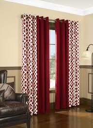 First Class Red Curtain Panels Amazon Com Trellis Thermalogic 80 X 95  Grommet Top Curtains