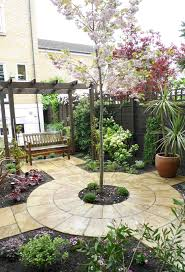 Small Picture beautiful courtyard garden with swing love the circular stone